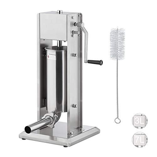 Relaxdays Wurstmaschine 5 Liter, 304...